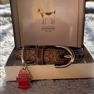 COACH 🐾 RARE 🐾 XS Dog Pet Animal Collar